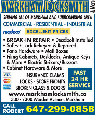 Markham Locksmith Emergency Services
